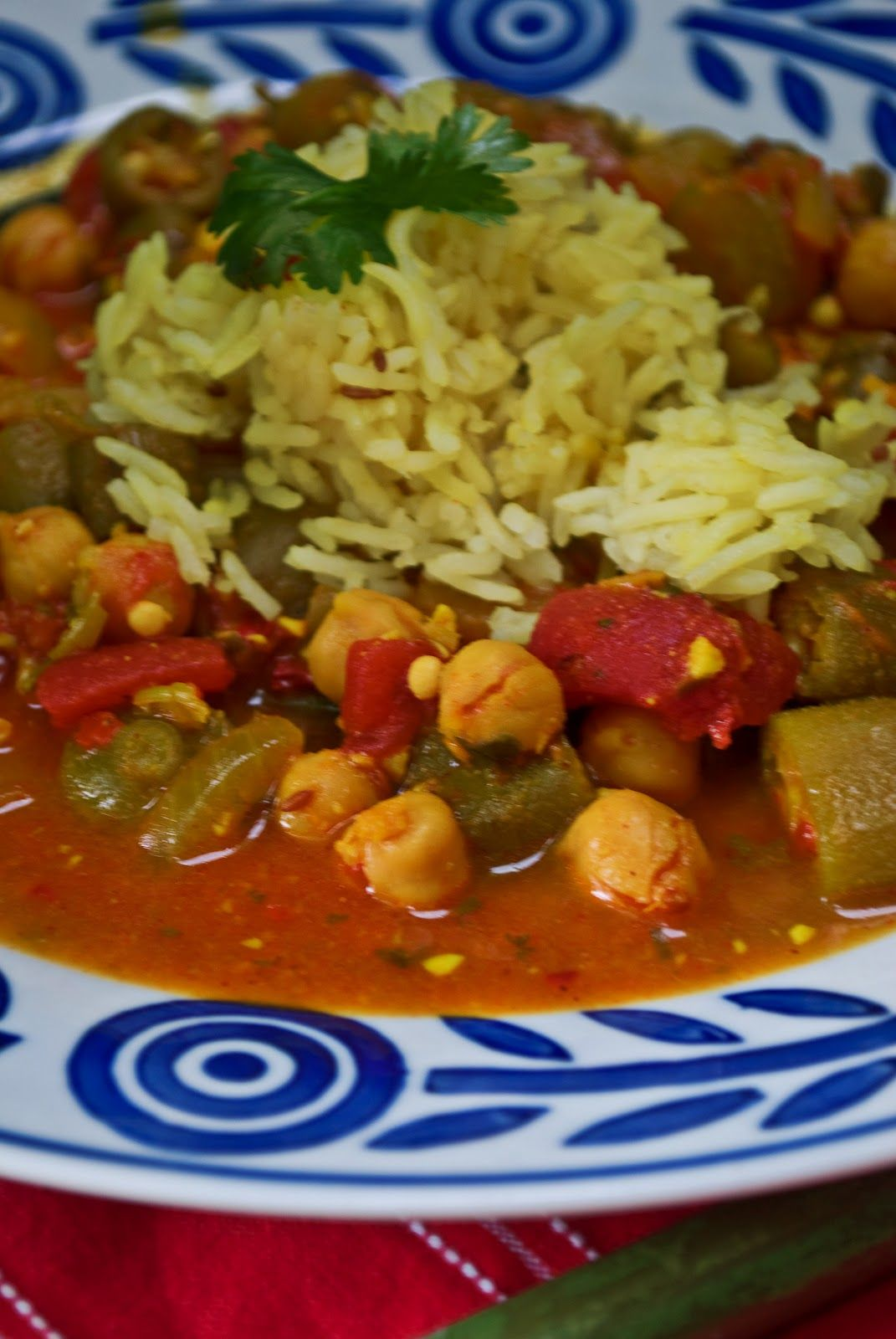 Curried Okra, Tomatoes and Chickpeas, no oil | Plant Strong ...