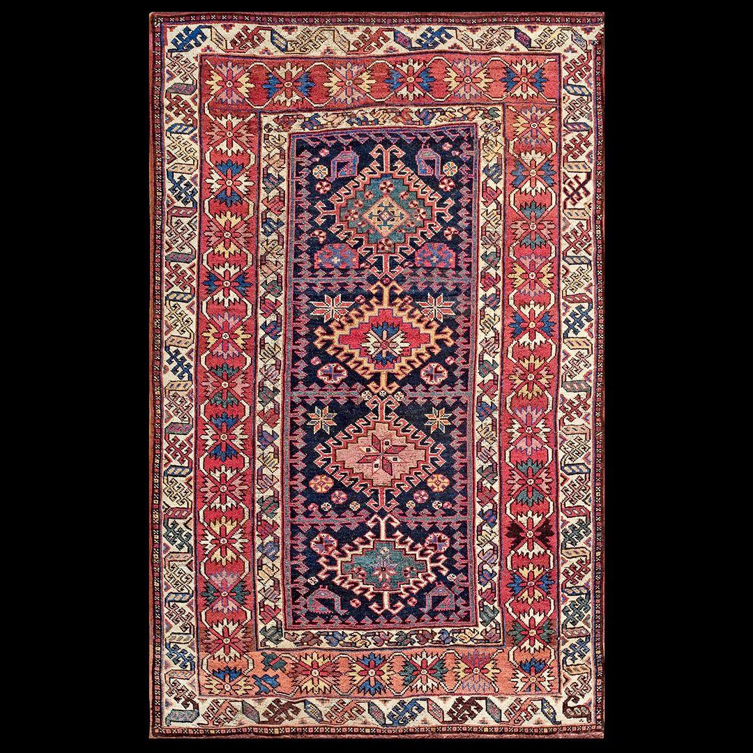 N.W.Persian Rug - 18057   Persian Tribal 4' 0'' x 6' 4''   Blue, Origin Persia…