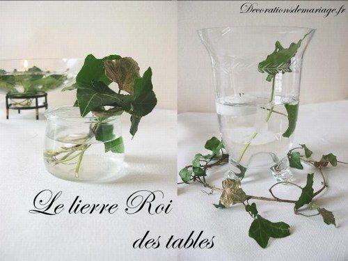 Id es de d coration de mariage faire part marque place menu art floral pinterest for Deco de table nature