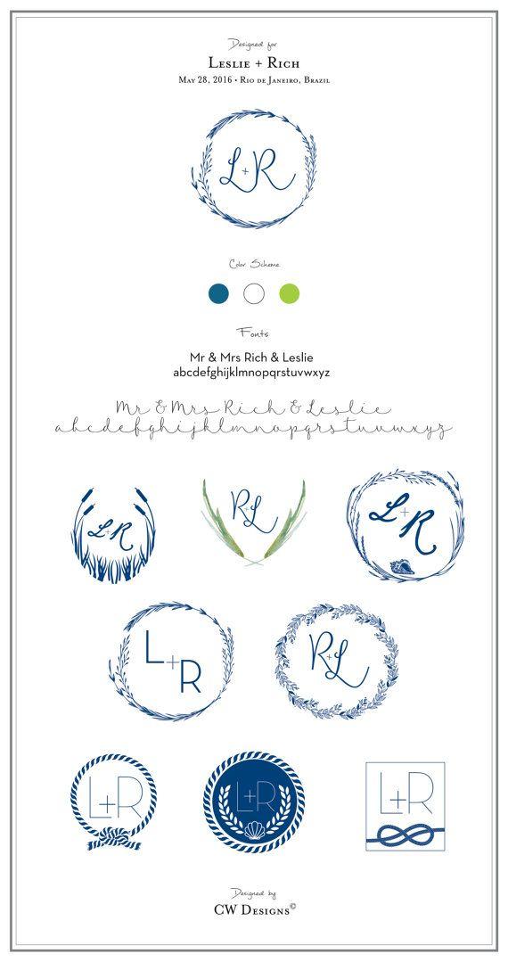 Brauch Hochzeit Monogramm Briefpapier Monogramm Von Cwdesigns2010