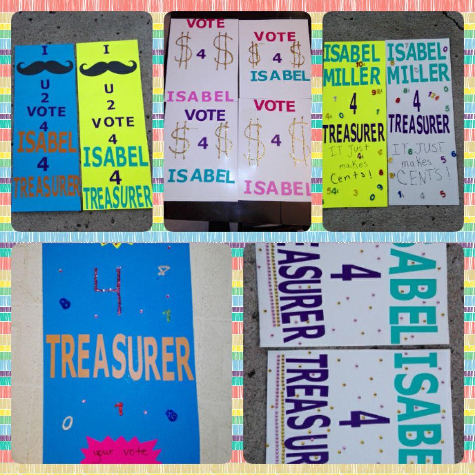 Student Council Treasurer Poster Ideas Student council