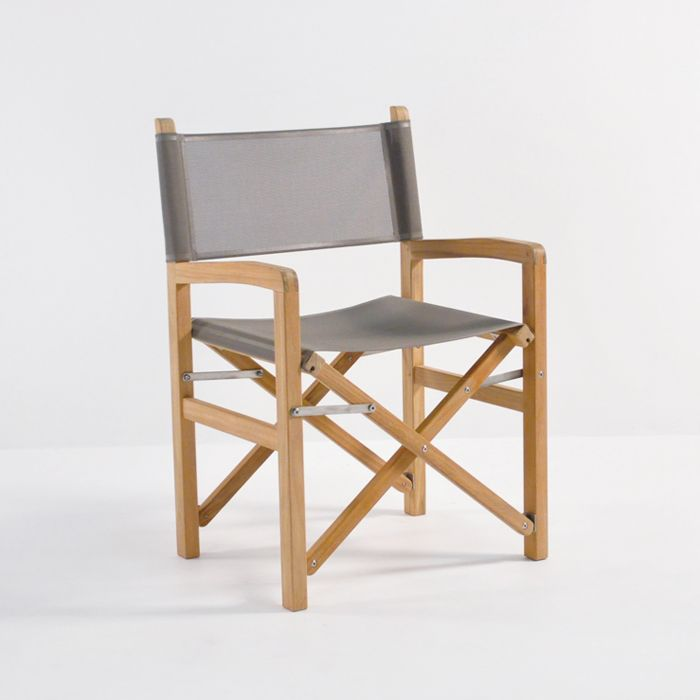 The Beach Directors Chair In Taupe Is Perfect For Relaxing And