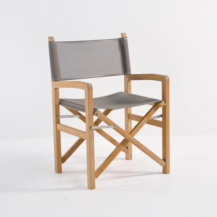 our beach director s chair is made of a grade teak marine grade rh pinterest com