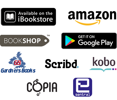 IBookstore, Amazon, Kobo, Scribd, Gardners Books, Copia, Esentral