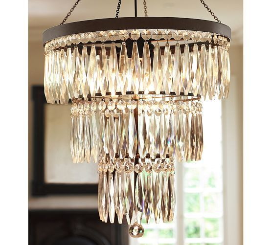 Adele Crystal Small Chandelier | Pottery Barn
