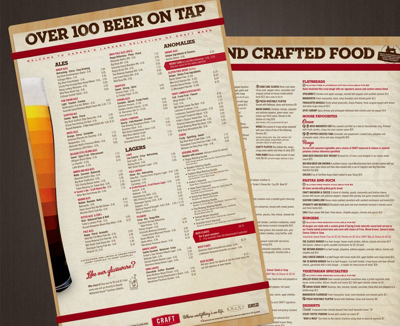 Branding and Advertising for Craft Beer Market Beer menus Pinterest