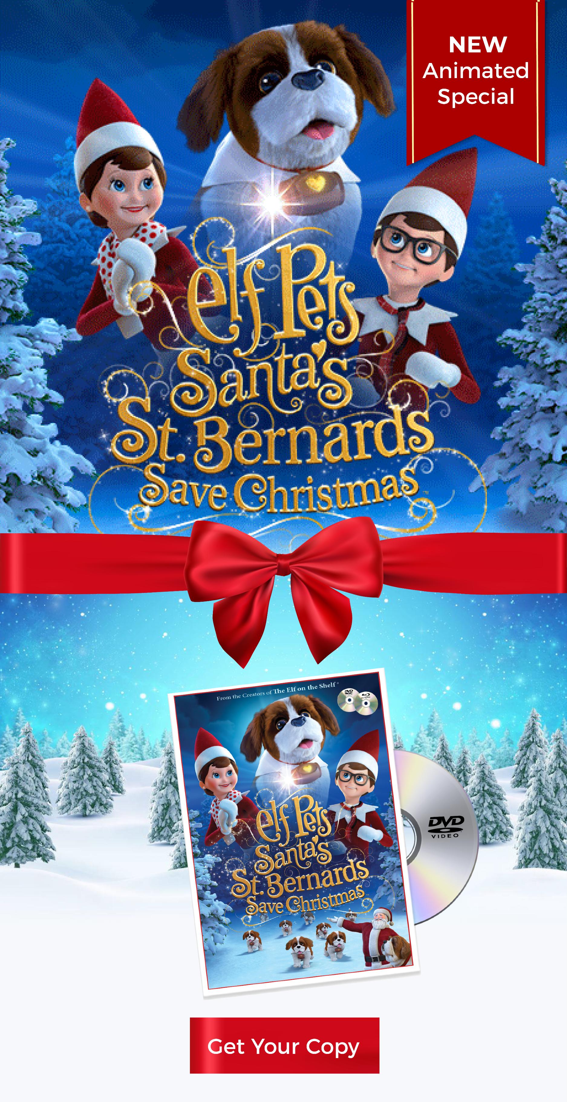 Elf Pets Santa S St Bernards Save Christmas Dvd Elf Pets Family Christmas Movies Christmas Elf