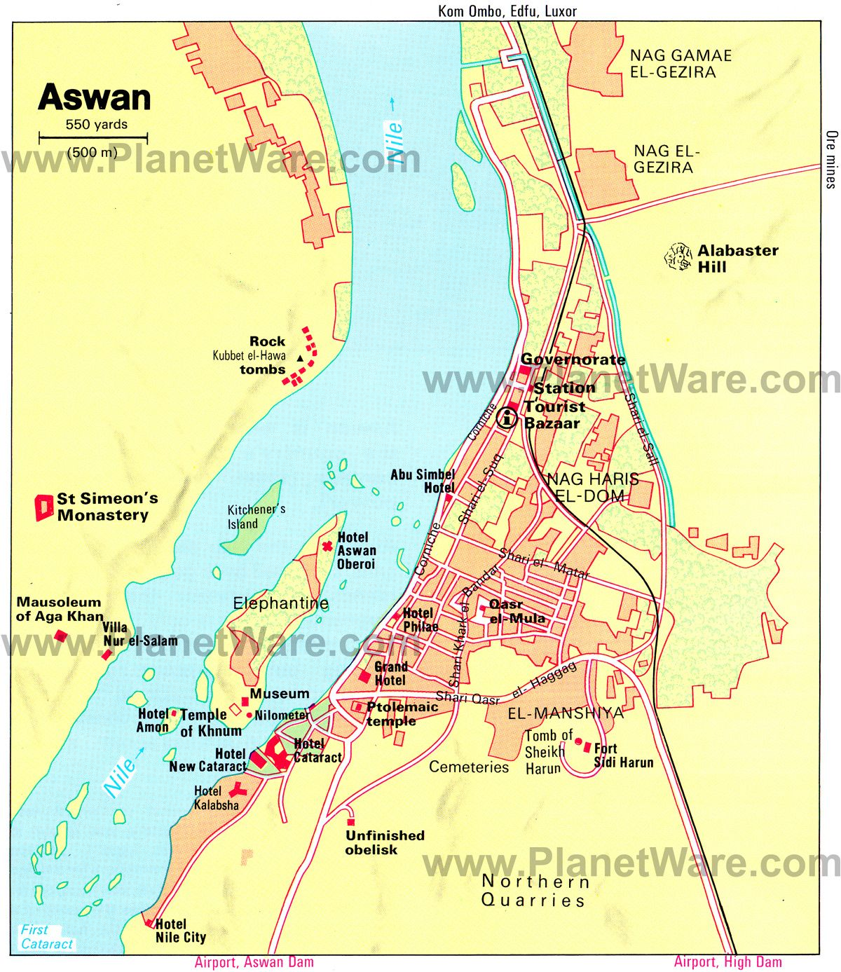 Map of Aswan World of Maps Pinterest Nile river and Cruises