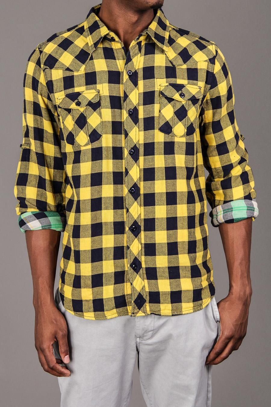 Gangster flannel shirts  Lumber Plaid Shirt  by Cohesive  Menus Tops  Pinterest