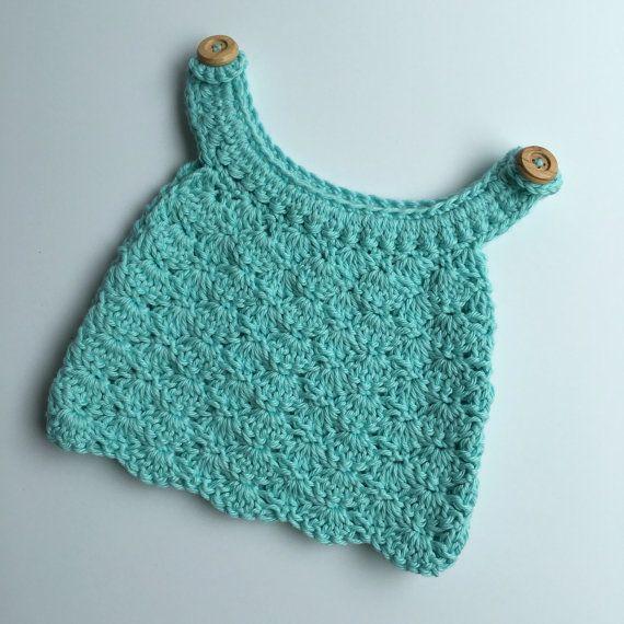 Aqua Crochet Crop Top by jharlowandco on Etsy