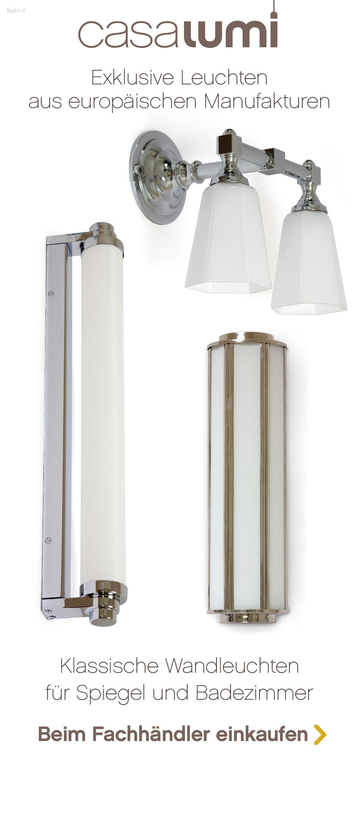 Exklusive und klassische Leuchten für das Badezimmer