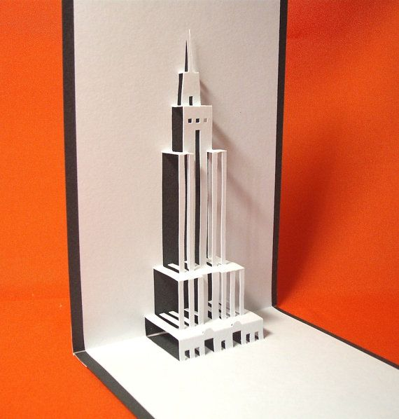 Empire State Building In New York Pop Up Card By Galinblack Pop Up Art Pop Up Book Pop Up Invitation