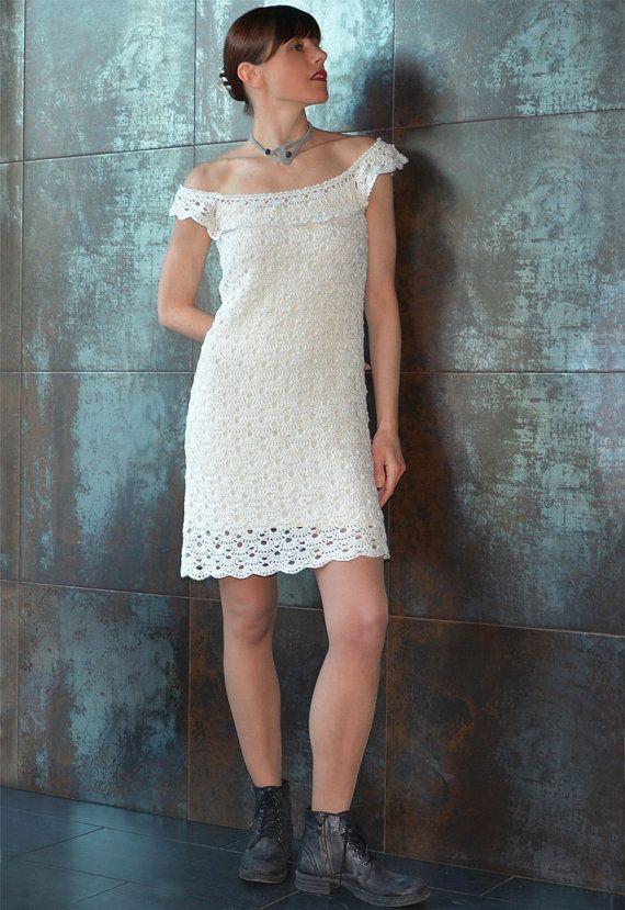 Off Shoulder Crochet Dress Pattern Xs 3xl Sizes Crochet Tutorial