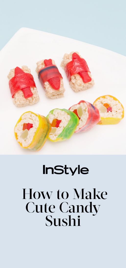 If you live for crunchy tuna rolls, simple salmon sashimi, and seaweed cones filled to the brim with fresh fish and tobiko, you'll be thrilled to know that this Saturday is International Sushi Day. To celebrate, try making these easy and adorable candy sushi rolls | from InStyle.com #candysushi