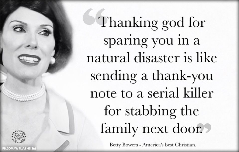 Quotes About Natural Disasters: Thanking God For Sparing You In A Natural Disaster Is Like