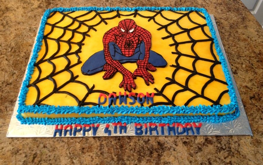 Pin On Spiderman Cakes