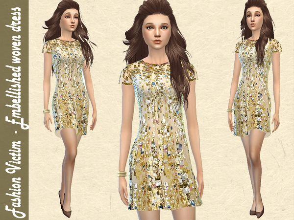 Embellished Party Dress by Fashion Victim at TSR via Sims ...