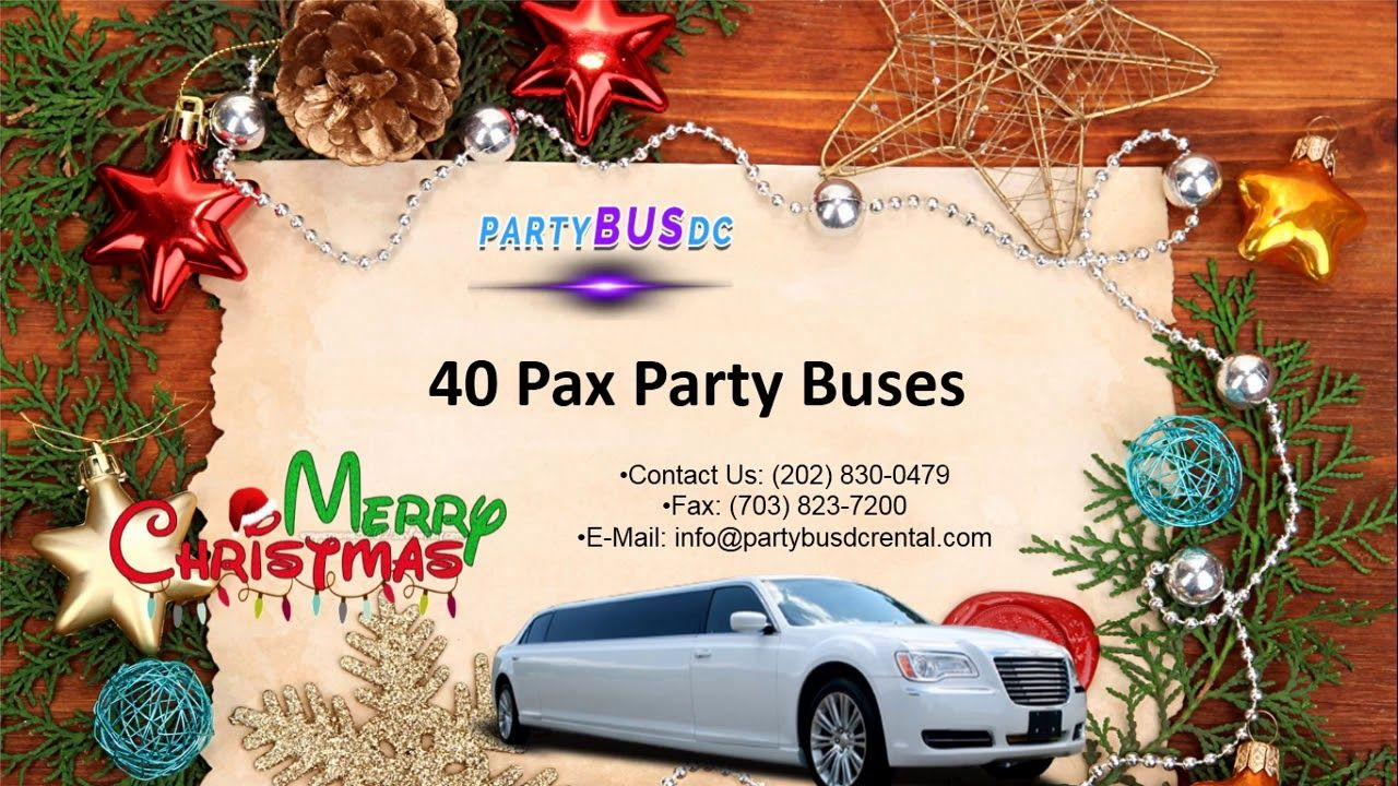 Dc party bus rental for christmas party bus wedding