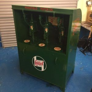 Vintage Automobilia Castrol Oil Dispenser Cabinet