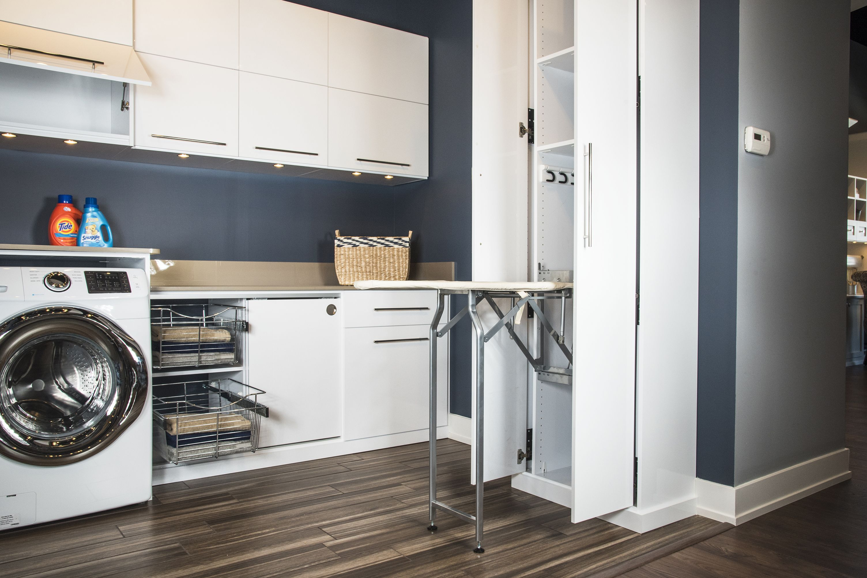 Custom Laundry Room With Fold Out Ironing Board Laundryroom