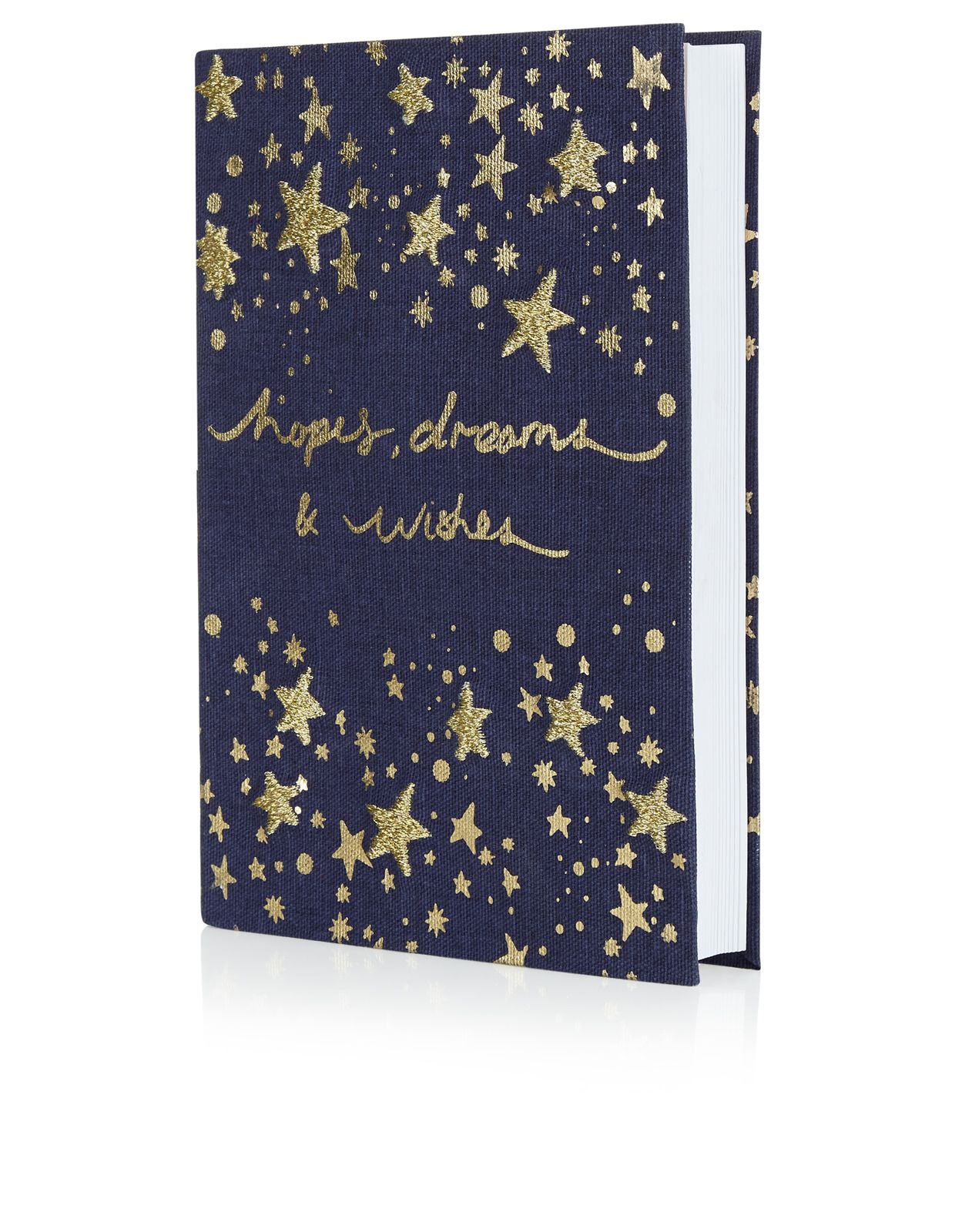 Hopes Dreams Wishes Applique Notebook | Navy | Accessorize ...
