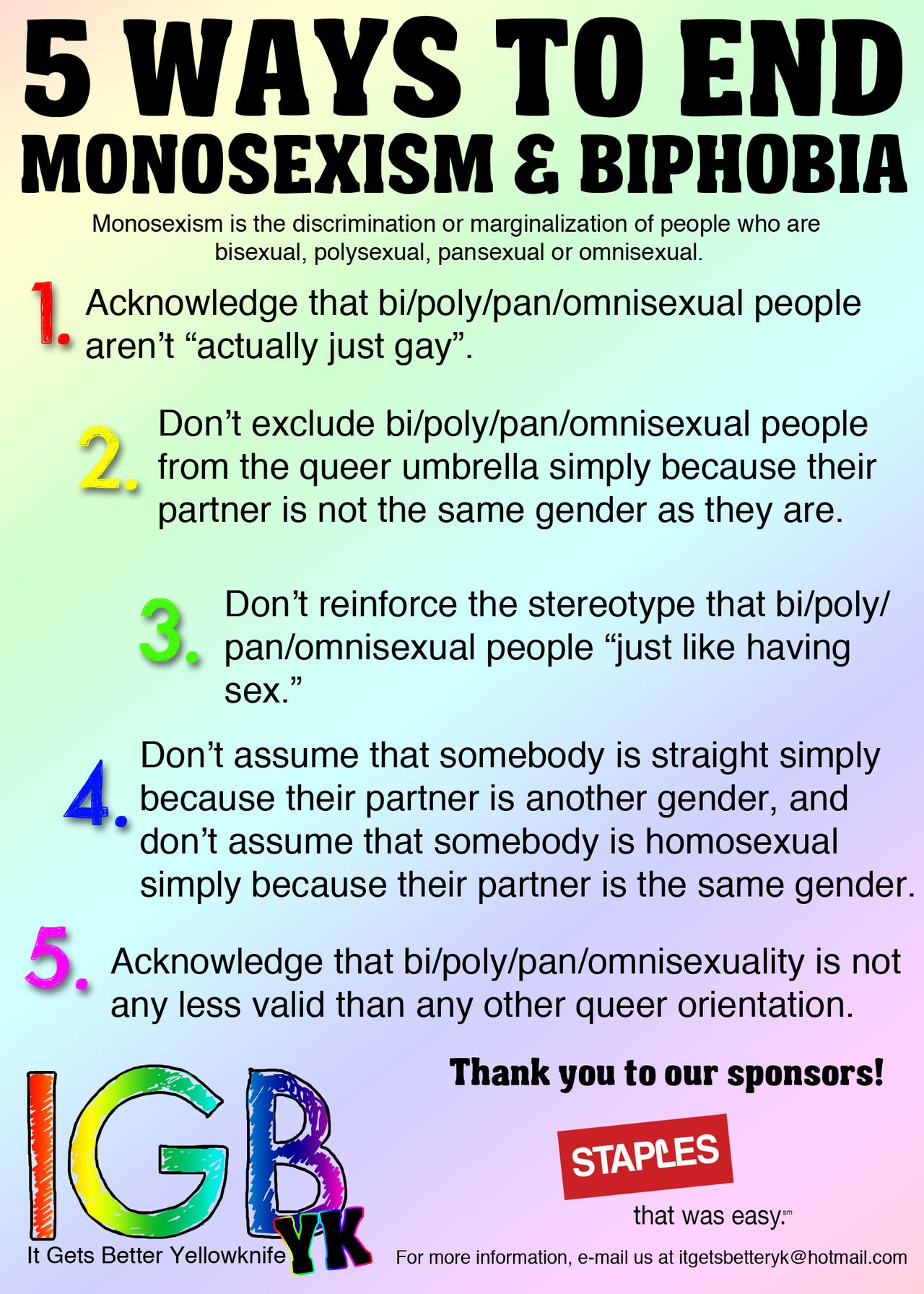 5 Ways to End Monosexism & Biphobia