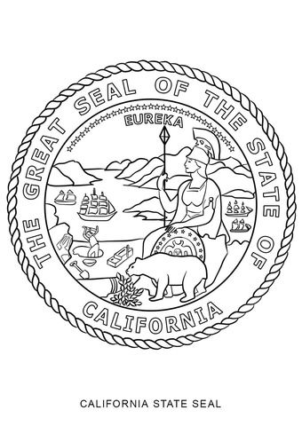 California State Seal coloring page from California