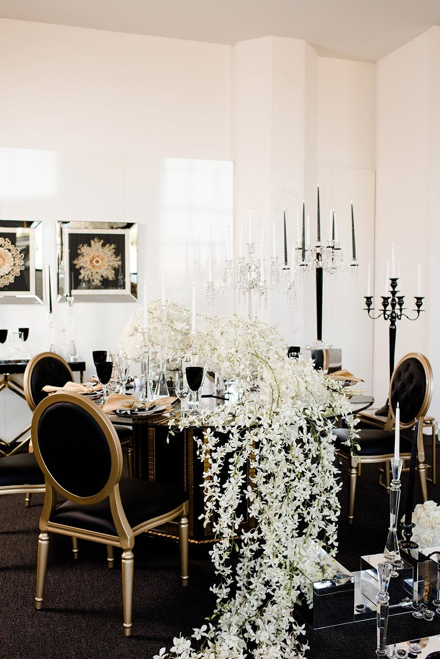 Glam Old-Hollywood Wedding Inspiration | Design & Styling: Kindt ...