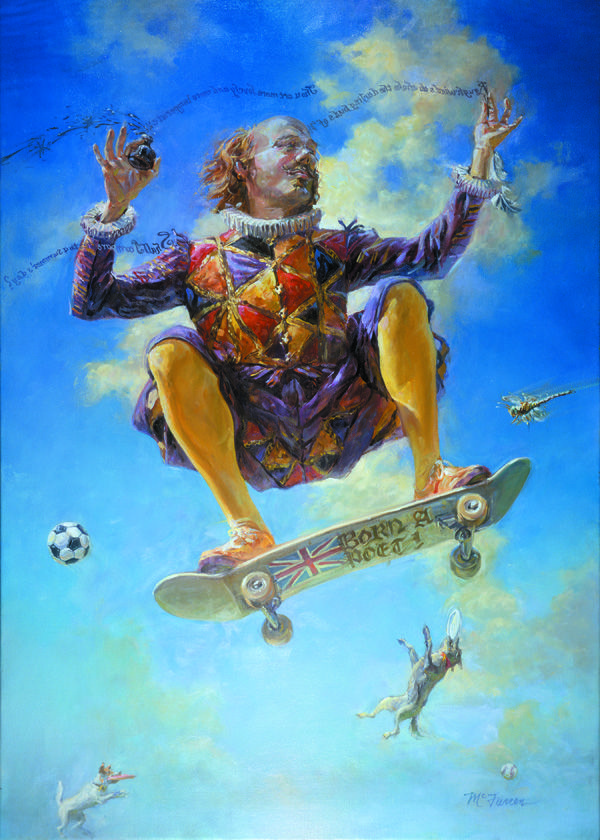 Skateboard Will Colorado Shakespeare Festival Poster Picturing