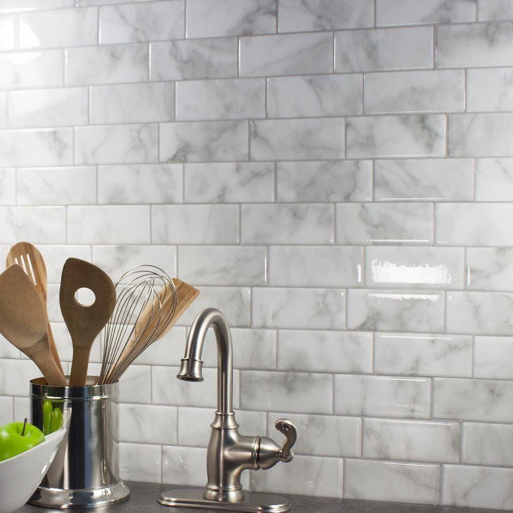 Self Adhesive Peel Stick Smart Wall Tiles Home Depot Dealsplus Smart Tiles Self Adhesive Backsplash Kitchen Backsplash Peel And Stick