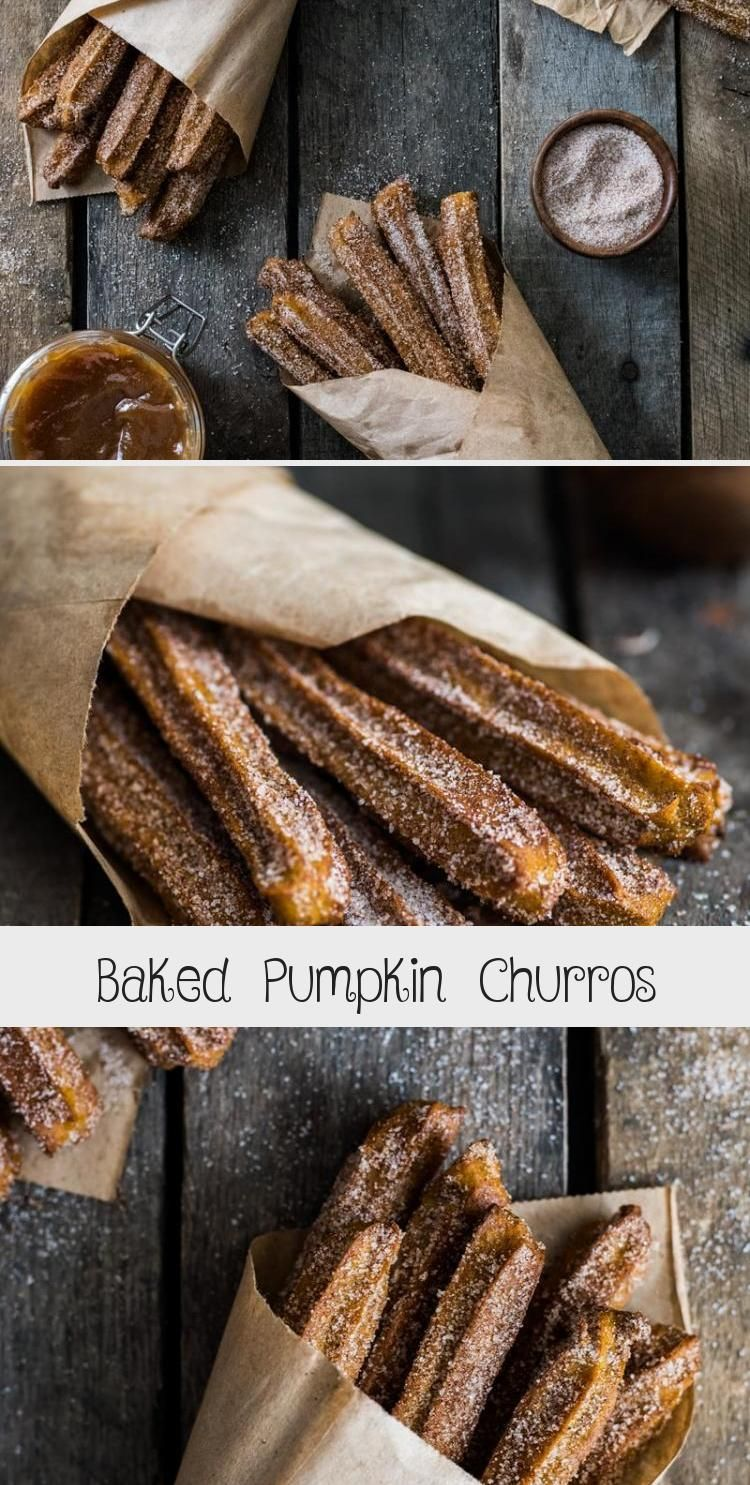 Photo of Baked Pumpkin Churros covered in cinnamon sugar are the perfect fall and winter …
