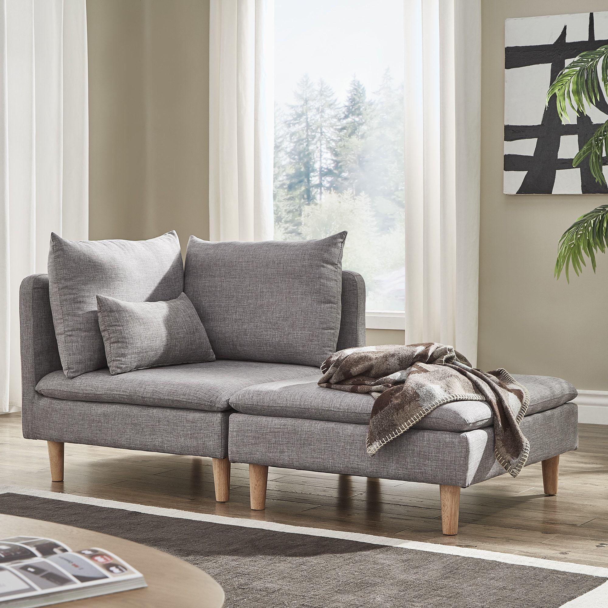 Malina Modular MidCentury Chair, Ottoman or Chaise Lounge