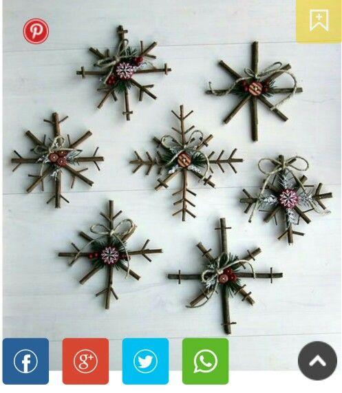 ornaments from stics twig christmas tree homemade christmas tree decorations christmas crafts for gifts - Homemade Christmas Decor