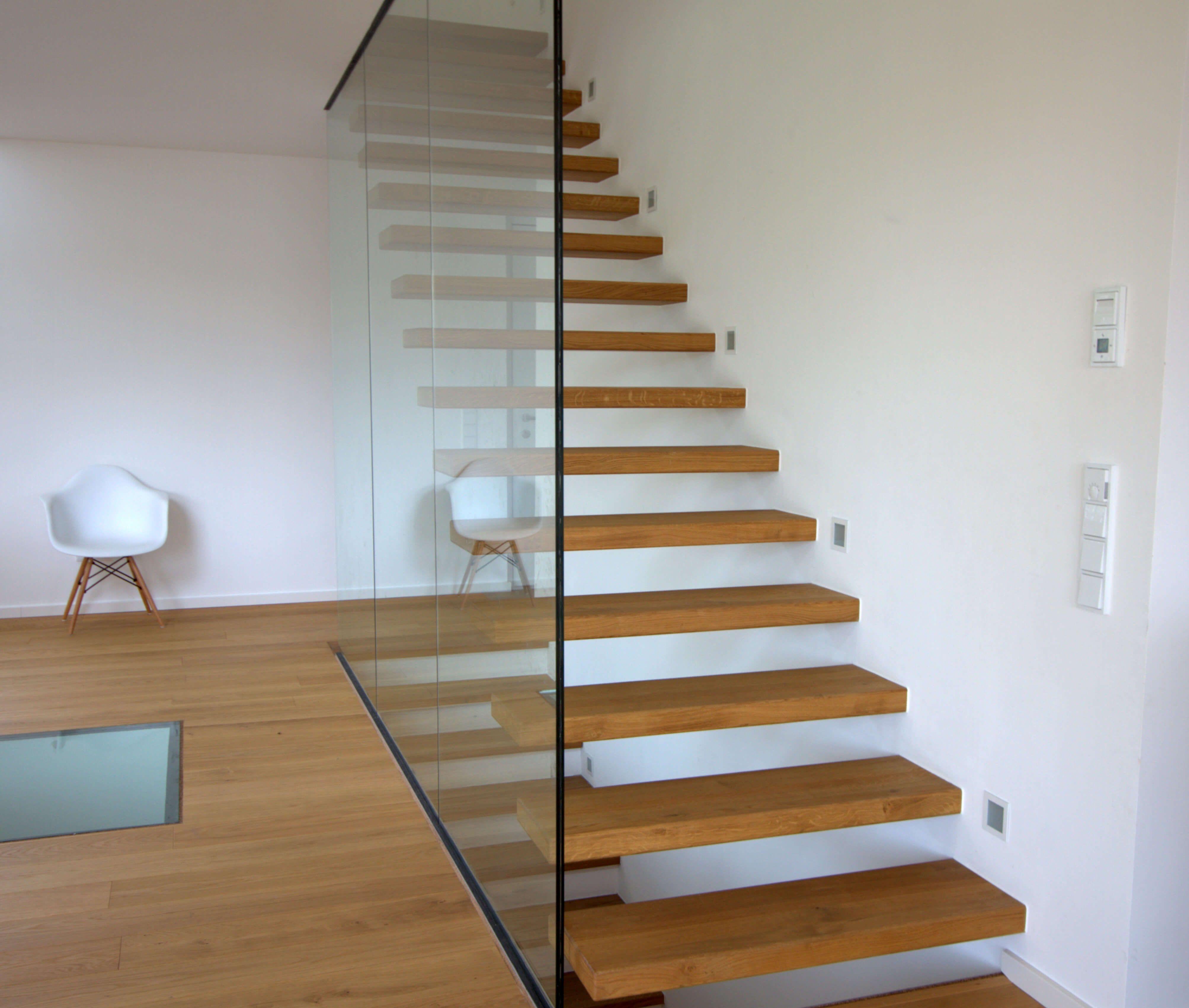 Bekannt Flying Steps Treppe Eiche Holz inkl. Glaswand, HARO Parkett mit LO74