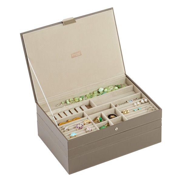 Mink Supersize Stackers Premium Stackable Jewelry Box Popular