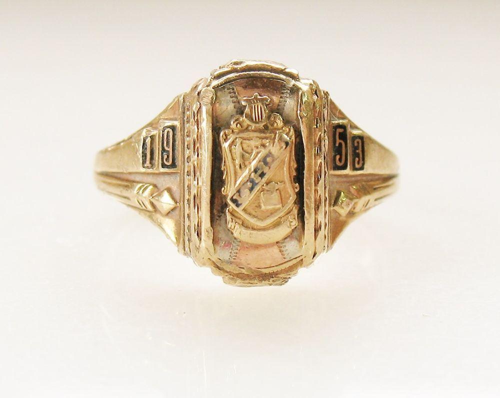 Vintage Josten 1953 High School Class Ring