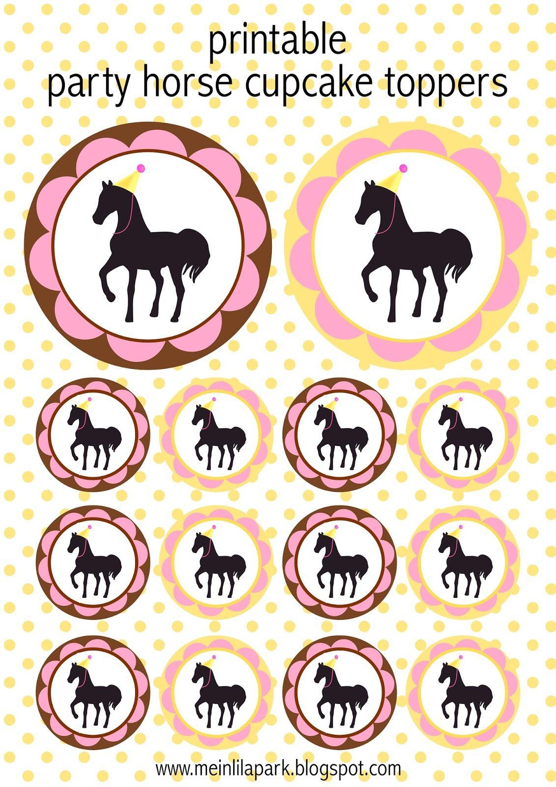 free printable party horse kit ausdruckbare pferde geschenkpapiere