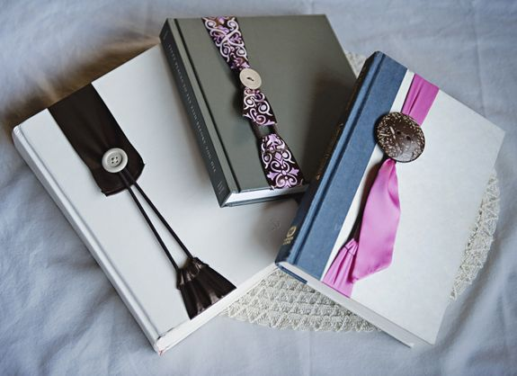 Nifty ribbon button no slip bookmark bookmarks for How to tie a ribbon on a bookmark