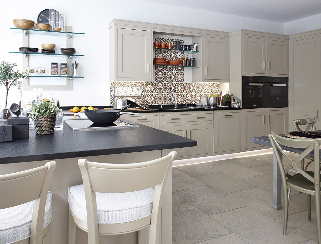 Modern Traditional Kitchens In Modern Traditional Kitchen Grange Grey Painted Cabinetry