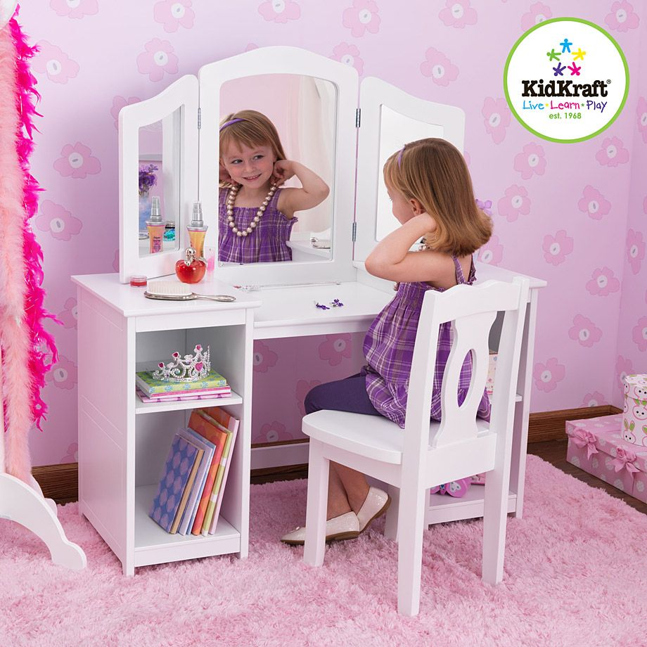 Kidkraft Deluxe Vanity Chair Kids Vanity Girls Vanity Kids Room