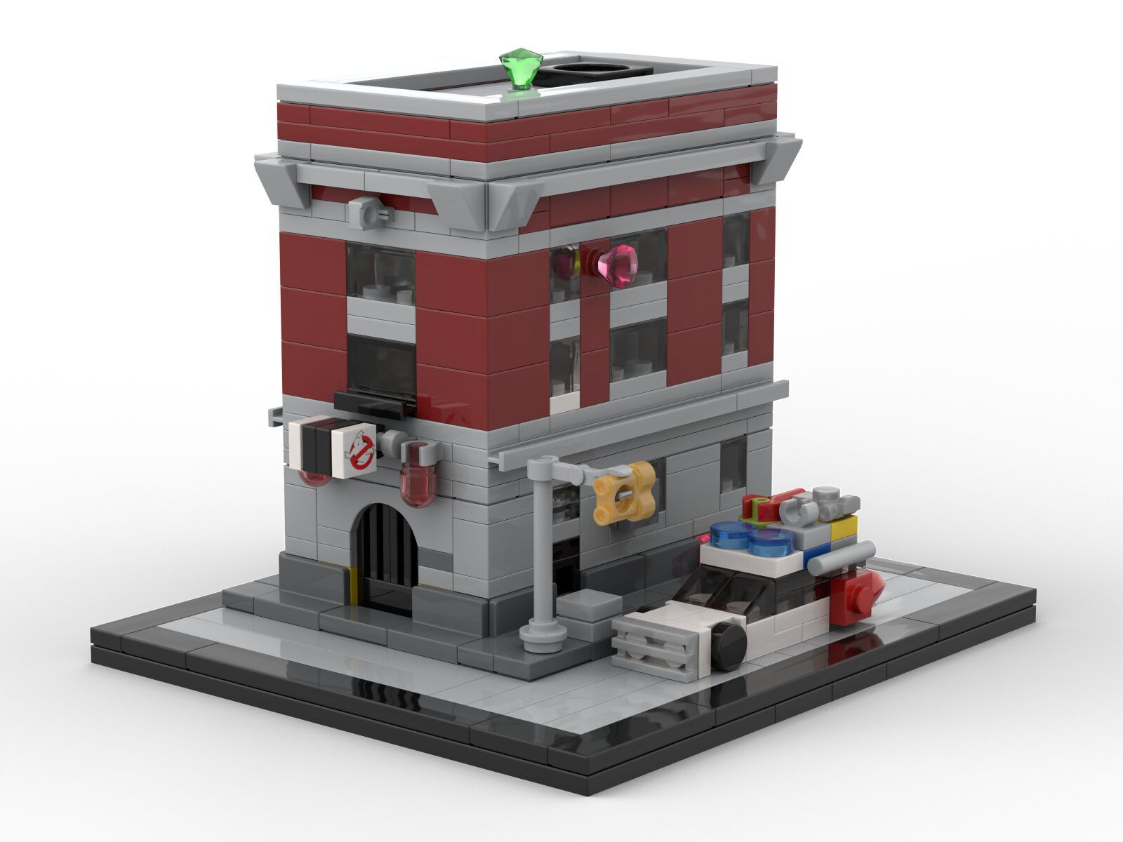 Lego Ghostbusters Firehouse Headquarters Architecture Micro Lego Lego Ghostbusters Firehouse