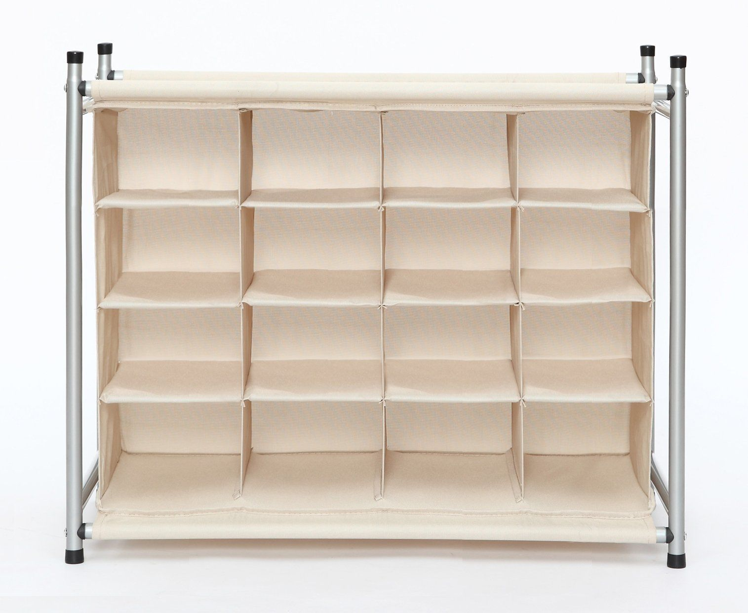 Storage Maniac 4 Tier 16 Cube Stackable Shoe Rack Organizer Free