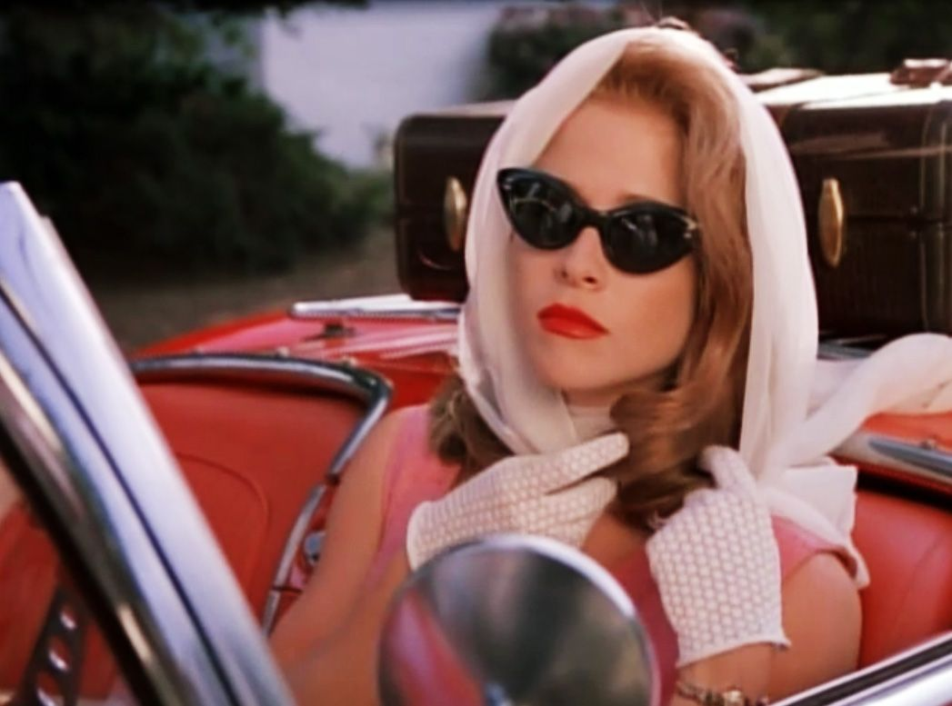 White Headscarf Red Convertable