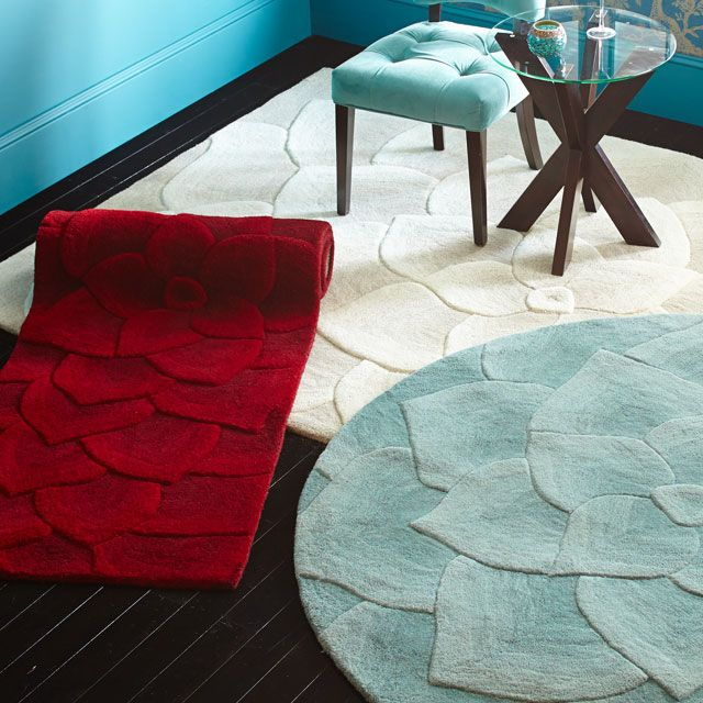 Pier 1 Imports Rose Tufted Round Rugs Smoke Blue Love The