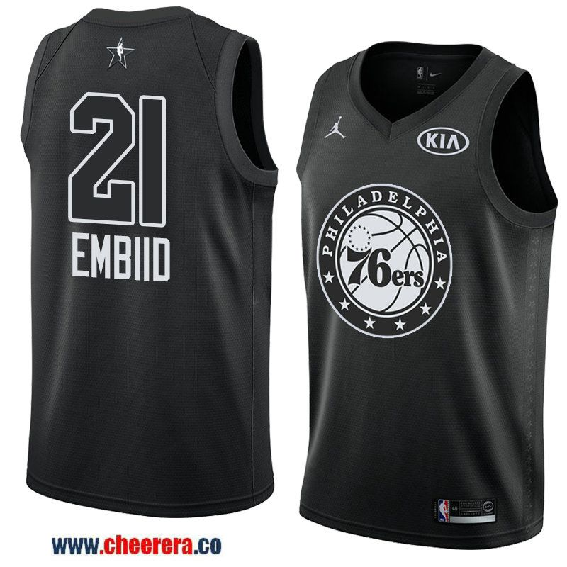 men s eastern conference philadelphia 76ers  21 joel embiid black 2018 nba  all-star jersey 4745d121e1b