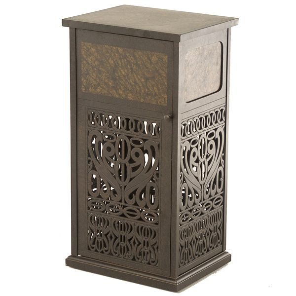 decorative outdoor garbage cans. Indoor Elegance Meets Outdoor Function with The Tuscany Trash Can by  Hanamint Patios and Elegant bathroom decor