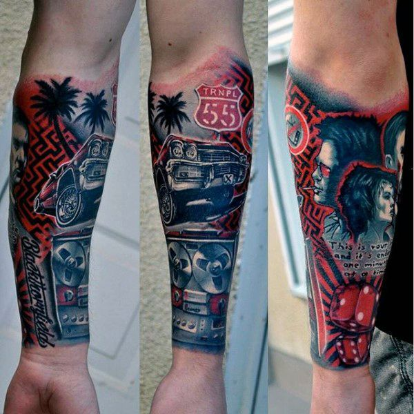 70 Car Tattoos For Men Cool Automotive Design Ideas Tattoo