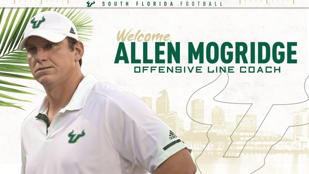 Mogridge Named Offensive Line Coach USF Athletics