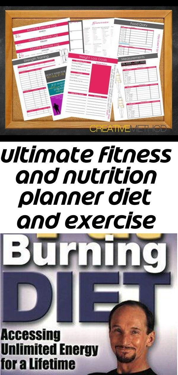 Ultimate fitness and nutrition planner diet and exercise journal and meal log w ,  #Diet #exercise #...