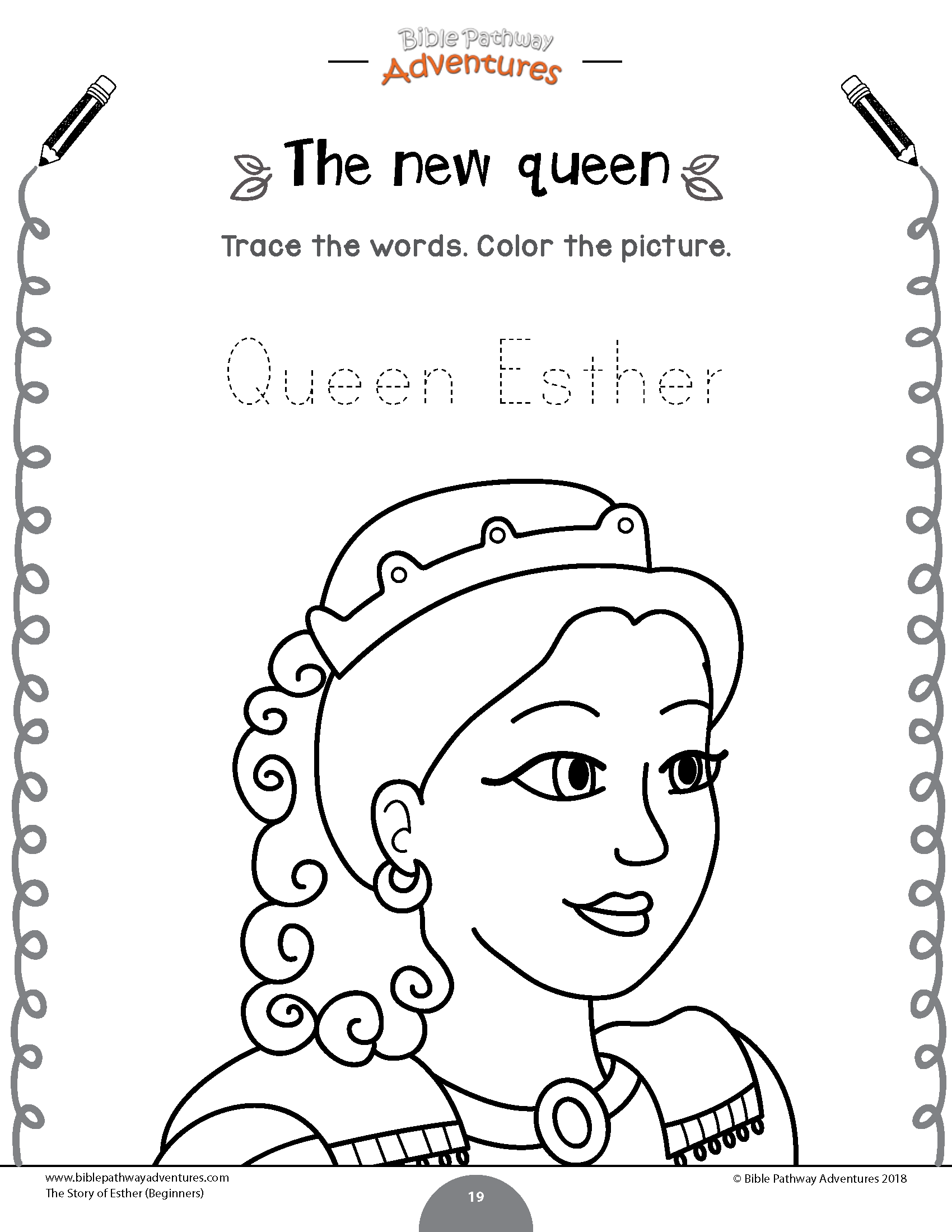 Story Of Esther Activity Book For Kids Ages 3 5 K 1